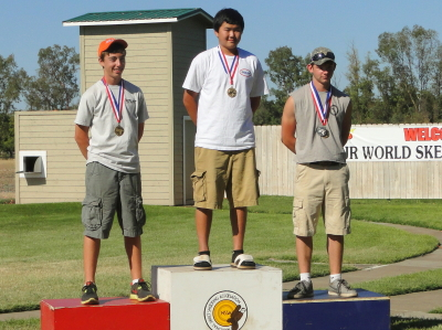 Junior World Skeet sub-junior winners
